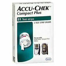 NIB Accu-Chek Compact Plus Blood Glucose Test Strips ,51 test strips 2020-07-31