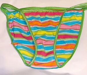 1 NWOT Victoria/'s Secret VTG 2005 PINK Low Rise Thong Panties SMALL
