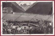 VALLE D'AOSTA COGNE 94 FESTA BALLETTO FOLKLORE COSTUME Cartolina REAL PHOTO 1940