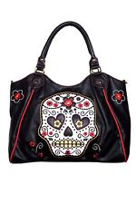 Women's Mexican Candy Skull Gothic Punk Emo Handbag Shoulder Bag Banned Apparel