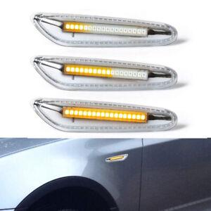 Clear Sequential LED Side Marker Blinker Lights For BMW E60 E92 E90 E88 E82 E87