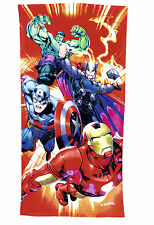 Children's Comic Book Heroes Bath Towels