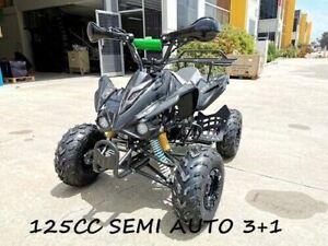 125CC ATV Sport Quad Dirt Bike 4 Wheel Buggy Go kart Semi Auto 3+1 Ranger Black