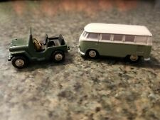 Schuco Piccolo VW Bus & Willys Jeep Diecast