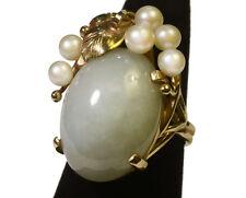 Jade Pearl 14K Mings Ring