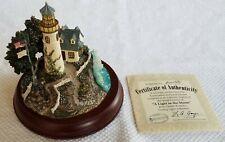 Hawthorne Village Thomas Kinkade A Light in the Storm Lighthouse Le With Coa