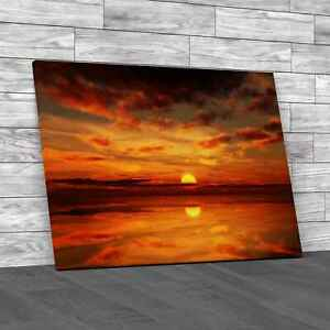 Gorgeous Sunset Clouds Canvas Print Large Picture Wall Art