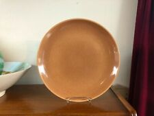 """Russel Wright Iroquois China 10-1/8"""" Dinner Plate Apricot"""