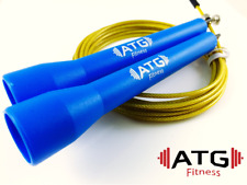 Speed Jump Rope Bearing - BLUE/GOLD - Crossfit Boxing Fitness MMA Gym Training
