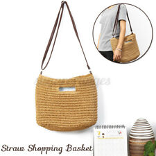 Straw Bag Hand Beach Rattan Shoulder Bags Bamboo Bag Women Handbag