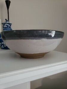 "Mid Century Modern Signed & Numbered Martz High Glaze Bowl 10 1/8"" Diameter"