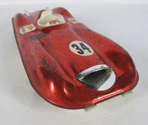 Mattel Bonneville Salt Flats Red Anodized Red Horse Mobil Gas Concept Car NR yqz