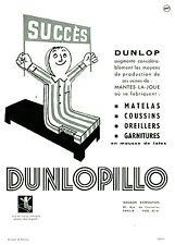 Publicité ancienne matelas Dunlopillo 1954
