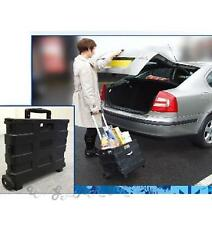 Car Boot Tidy Folding Shopping Cart Trolley Basket Luggage Festival Handle box