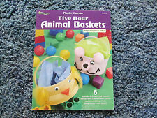 FIVE HOUR ANIMAL BASKETS IN PLASTIC CANVAS