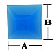 Stained Glass 2 x 2 Inch light blue square bevels 6 pack