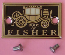 BUICK FISHER BODY PLATE & Special Screws 1924 thru 1931 NEW TAG & Our Parts List