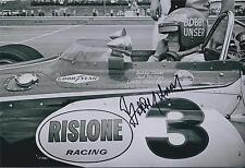 Bobby Unser SIGNED Indianapolis Raceway 12x8 Photo AFTAL COA Autograph