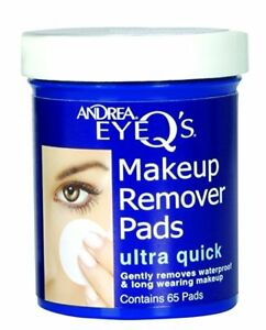 Andrea Eye Q's Ultra Quick Makeup Remover Pads 65 Ct (3 Pack)