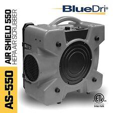 BlueDri Air Shield 550 AS-550 Hepa Negative Air Machine Scrubber Filtration Grey