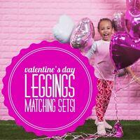 NWT LuLaRoe Matching Mommy & Me Sibling Valentine Leggings OS TC TWEEN L/XL S/M