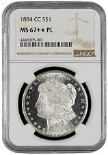 1884-CC $1 Morgan Silver Dollar NGC MS67+✯PL Plus Star Highest In Proof Like