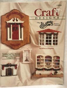 Craft Designs Dollhouse Miniatures Magazine Ideas Hobbies Crafts Houseworks 1990