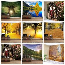 Landscape Tree Tapestry Wall Hanging Home Art Blanket Wall Tapestries Room Decor