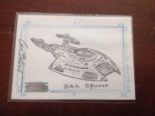 Rittenhouse Sketchafex Star Trek Voyager USS Equinox Cris Bolson Sketch Card