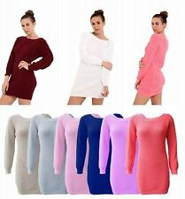 New Ladies Plain Chunky Knitted Cable Long Sleeve Women Baggy Jumpers Cardigans