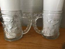 VINTAGE MC DONALD'S BATMAN FOREVER GLASSES MUGS LOT 2-1995 BATMAN NEW