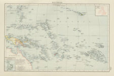 Pacific Islands. Polynesia Micronesia Melanesia. Fiji Caroline &c TIMES 1900 map
