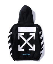 NEW Off White Hoodie Loose Pullover Basic arrow printing fashion Sweatshirt