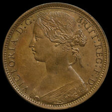 1871 Queen Victoria Bun Head Penny