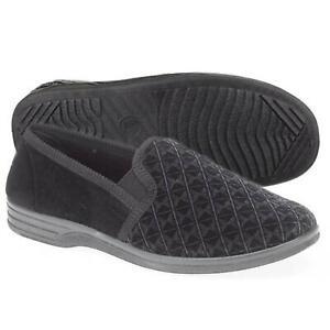 Mens Slippers Slip On Full Slippers Twin Gusset Full Back House Slippers Shoes