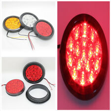 Durable 12 V-24V Car Truck RV 16 LEDs Round Red Indicator Stop Rear Tail Lights