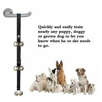 New Adjustable Pet Dog Door Bells Potty Training Puppy Doorbell With Bells New