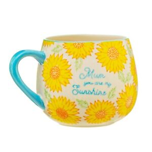Sunflower Patterned Mug by Sass & Belle, 'Mum You Are My Sunshine' Boxed Cup