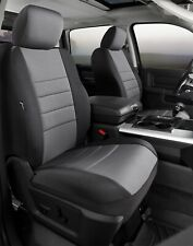 Leatherette SL62-26 GRAY Black with Gray Center Panel FIA Front Bucket Custom Fit Seat Cover