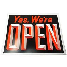 """Extra Large Yes We're Open & Closed Window Sign, 15"""" H x 19"""" W"""