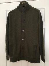 Loro Piana Men's Baby Cashmere Button Bomber Sweater Sz 52 Retail $2,545.00