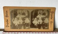 McGINTY'S WAKE Antique POPULAR SERIES Victorian Stereoview