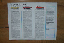 1970s Fiat 124s and Fiat 128s Specifications Sheet Brochure Spider Sport Coupe