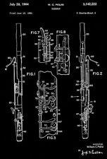1964 - Bassoon - Musical Instrument - W. C. Polisi - Patent Art Poster