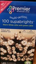 100 Led warm white multi action Lights