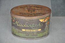 Vintage Mackintosh's Superfine Chocolate Toffee Ad Litho Tin Box , England