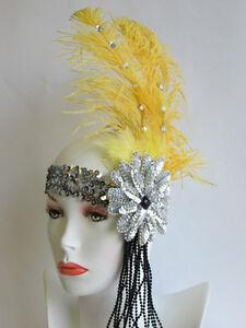 WOMEN ROARING 20S 20'S CHARLESTON FLAPPER GATSBY COSTUME HEADPIECE HEADBAND