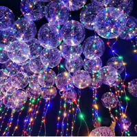 LED Light Balloons Transparent Balloon Wedding Birthday Xmas Party Lights Decor