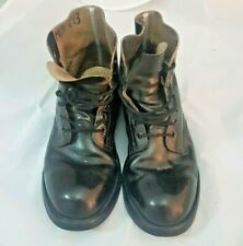 Men's Steel Toe Army-style Black Biltrite Leather Outdoor and Work Boots 7.5