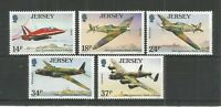 JERSEY 1990 JERSEY AVIATION HISTORY 4TH SERIES SG,530-534 UM/M N/H LOT R1479